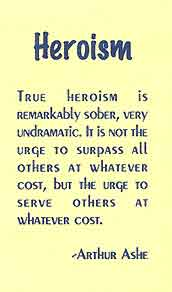The definition of heroism